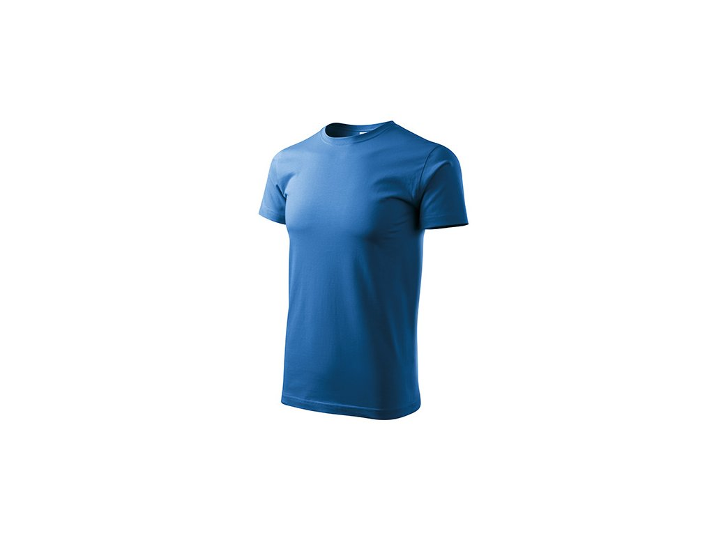 Heavy New tričko unisex azurově modrá