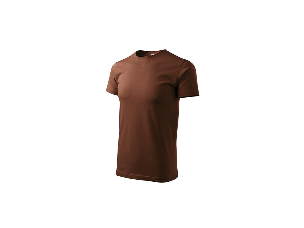 Heavy New tričko unisex čokoládová