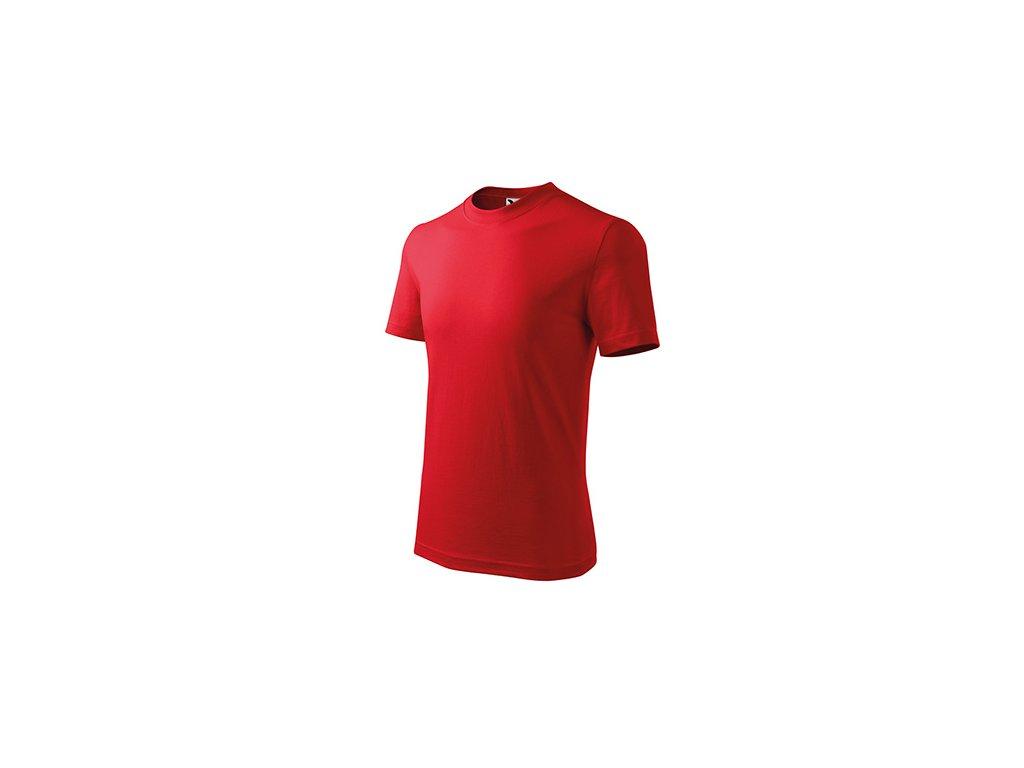 Basic tričko dětské červená