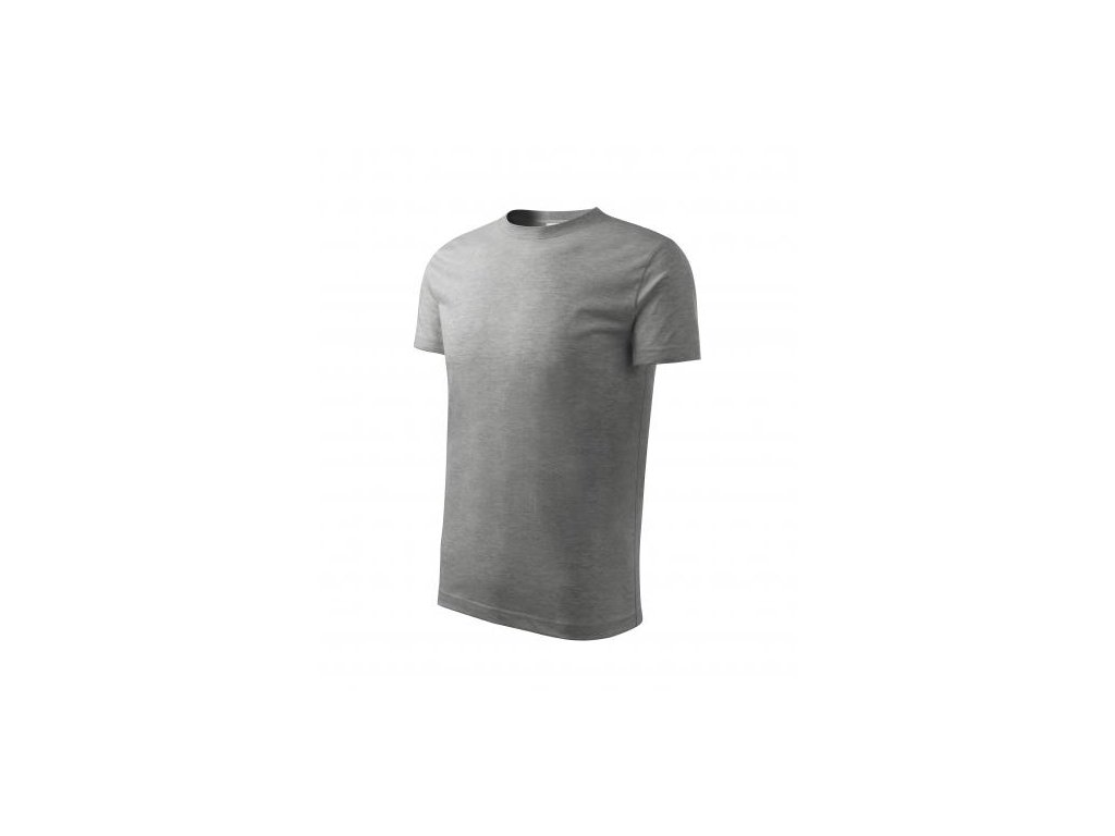 Basic tričko dětské tmavě šedý melír