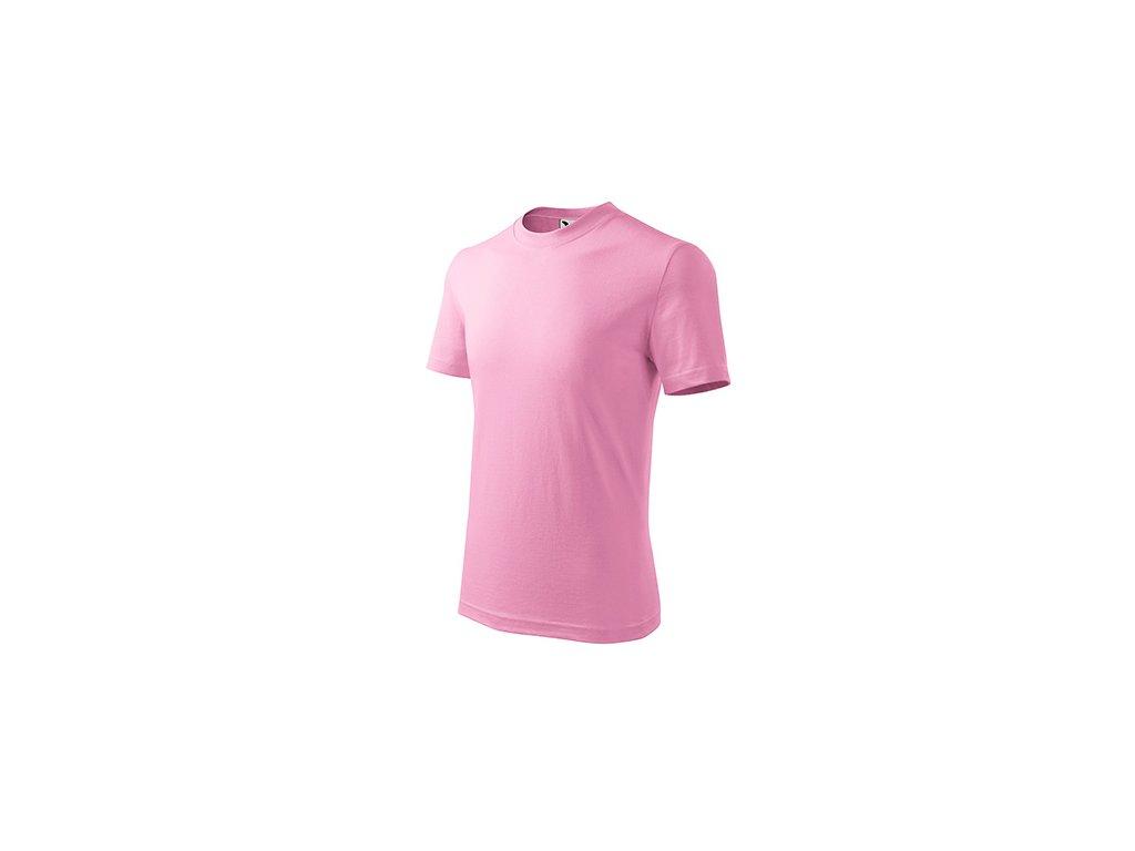 Basic tričko dětské růžová