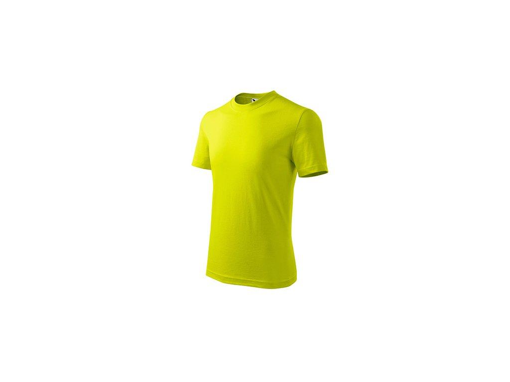 Basic tričko dětské limetková
