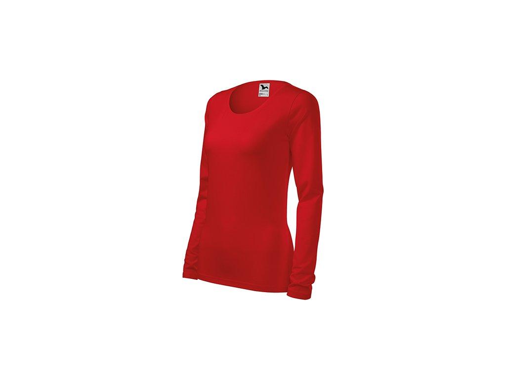 Slim triko dámské červená
