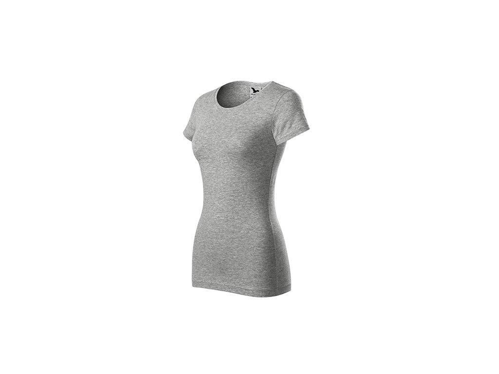 Glance tričko dámské tmavě šedý melír
