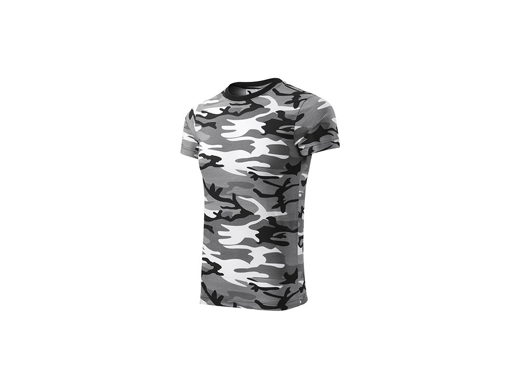 Camouflage tričko unisex camouflage gray