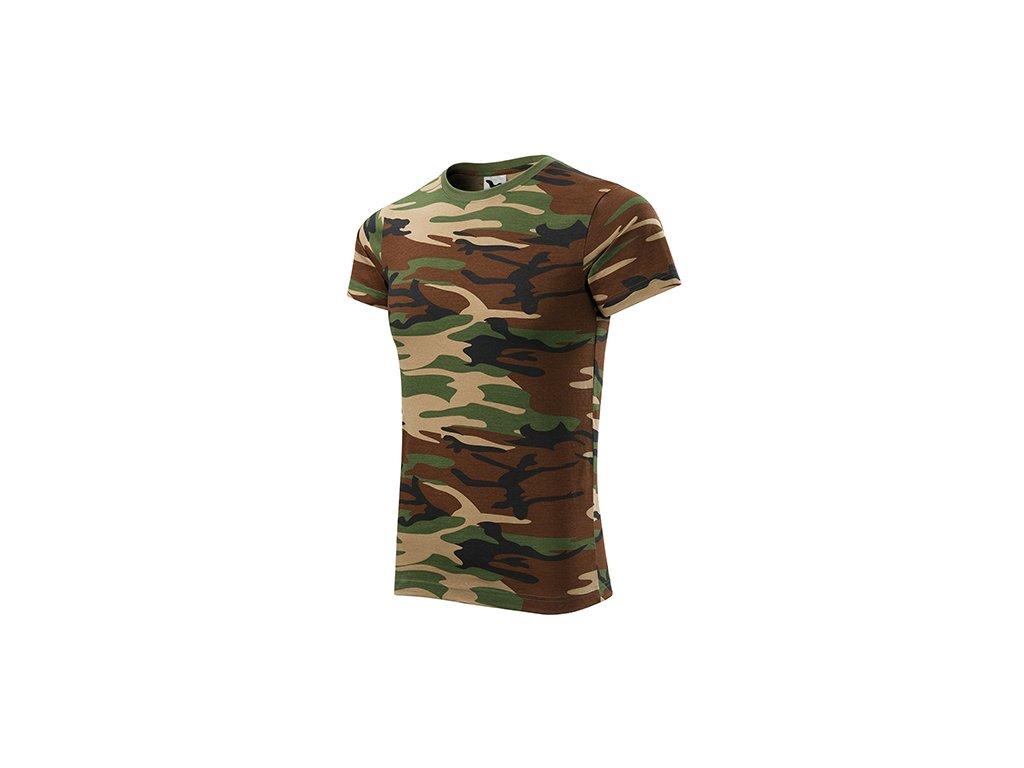 Camouflage tričko unisex camouflage brown