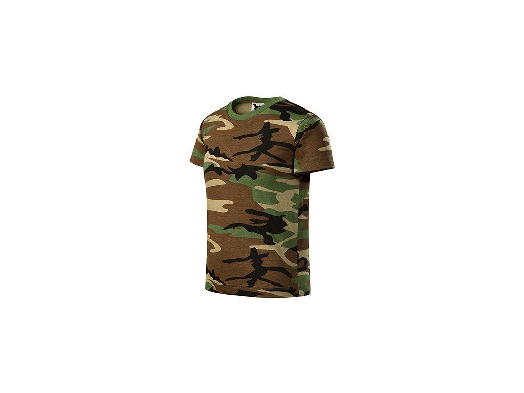 Camouflage tričko dětské camouflage brown