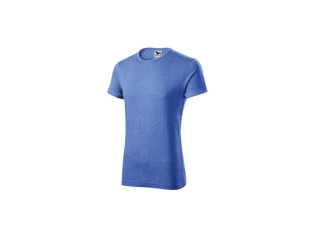 Fusion tričko pánské modrý melír