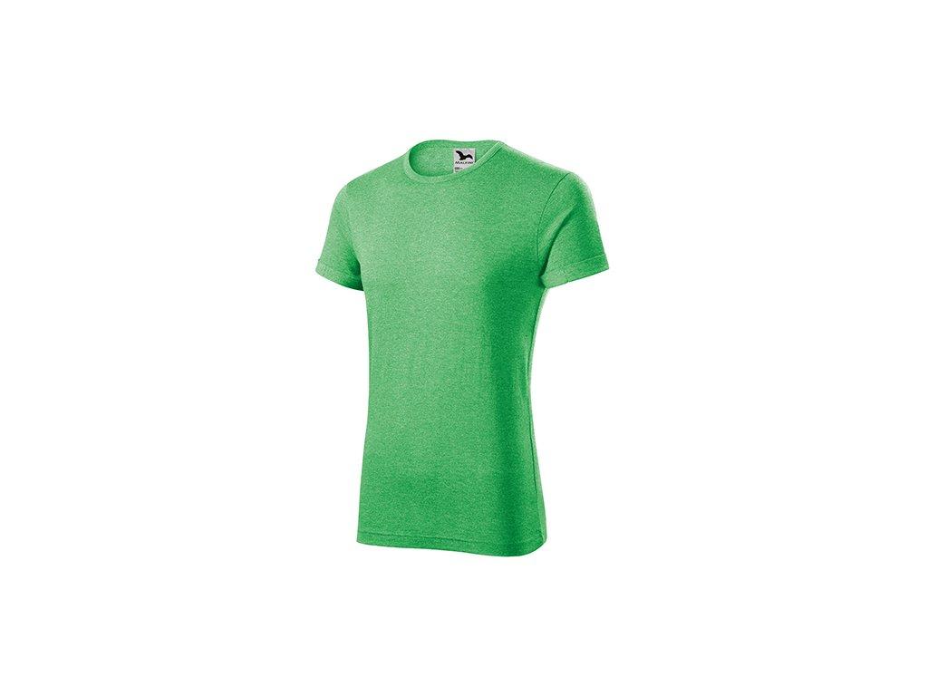 Fusion tričko pánské zelený melír