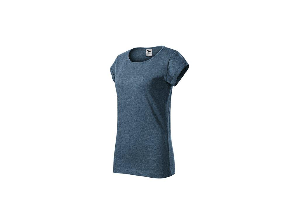 Fusion tričko dámské tmavý denim melír