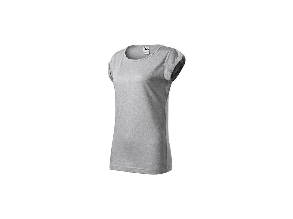 Fusion tričko dámské stříbrný melír