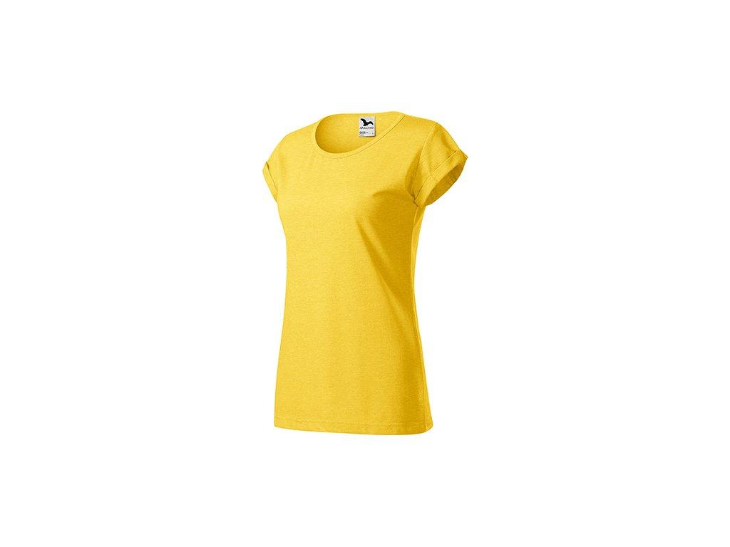 Fusion tričko dámské žlutý melír