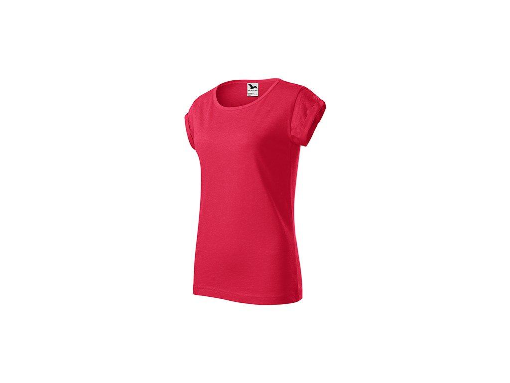 Fusion tričko dámské červený melír