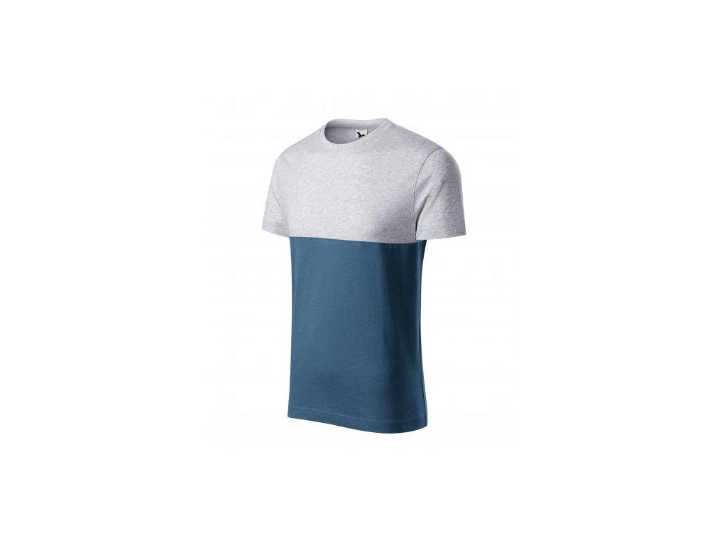 Connection tričko unisex světle šedý melír