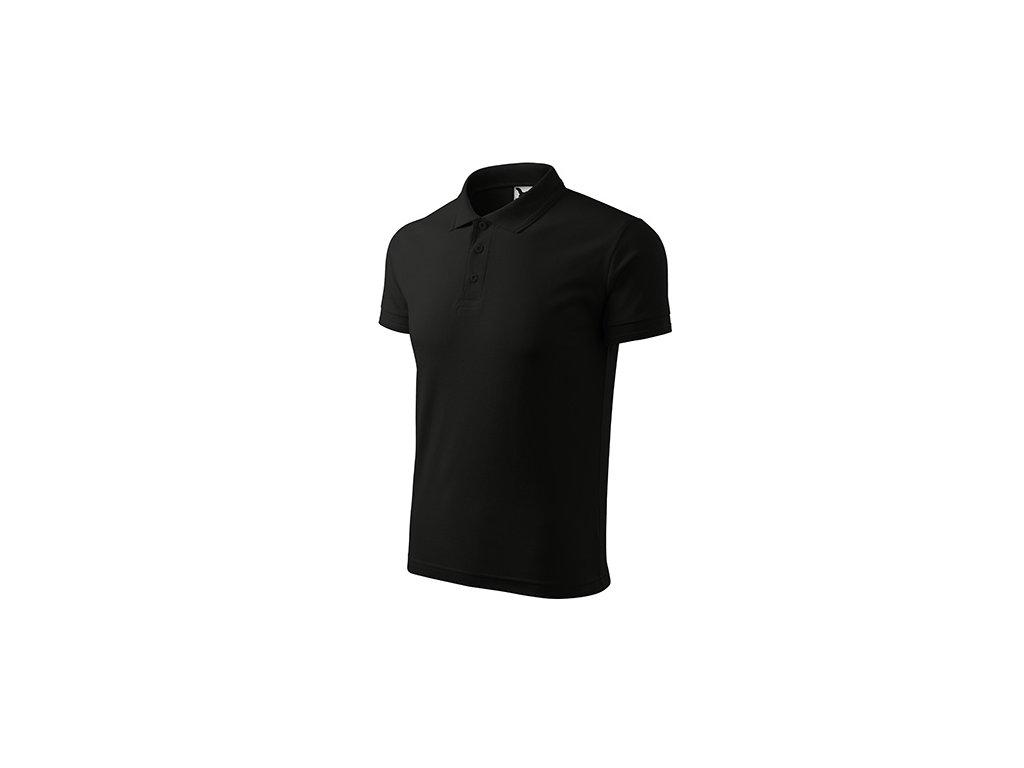 Pique Polo polokošile pánská černá