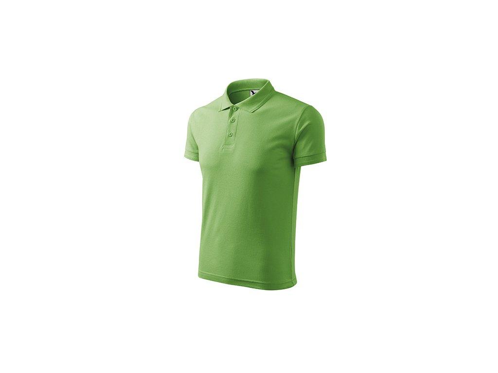 Pique Polo polokošile pánská trávově zelená