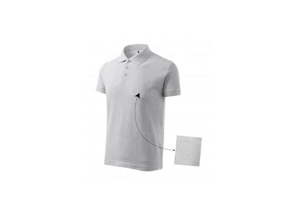 Cotton polokošile pánská světle šedý melír