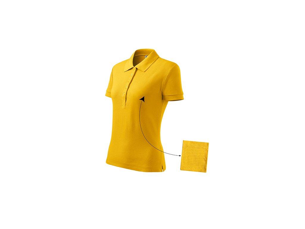 Cotton polokošile dámská žlutá