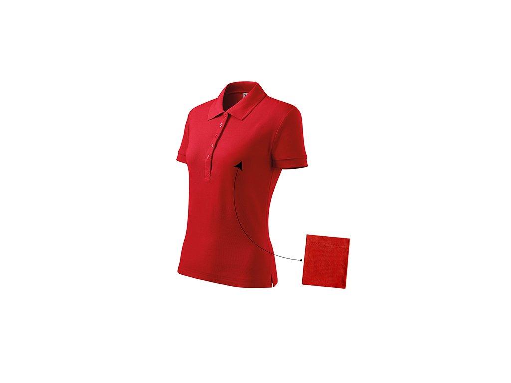Cotton polokošile dámská červená