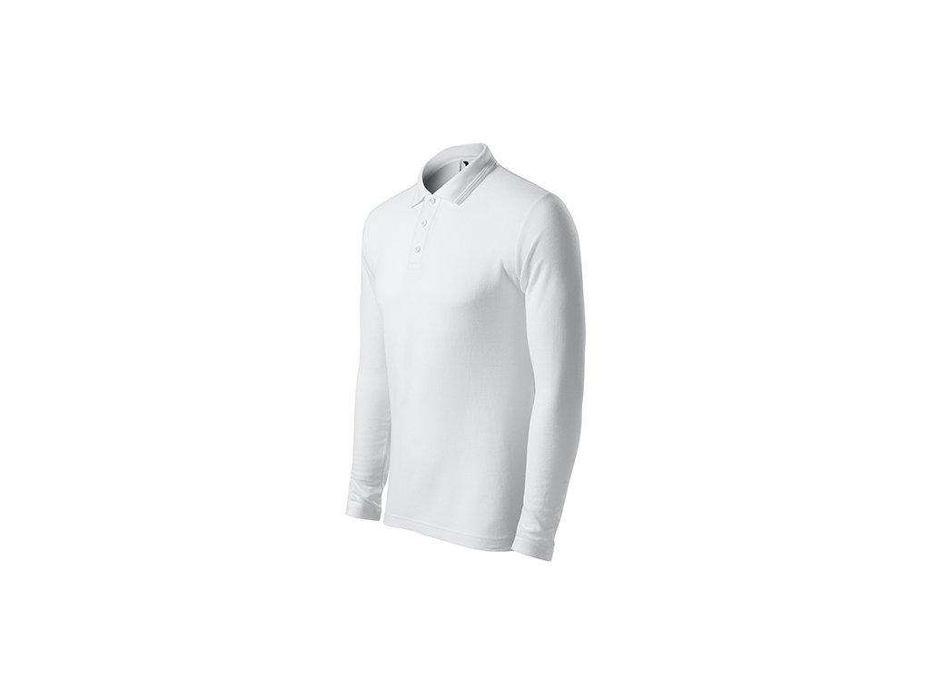 Pique Polo LS polokošile pánská bílá