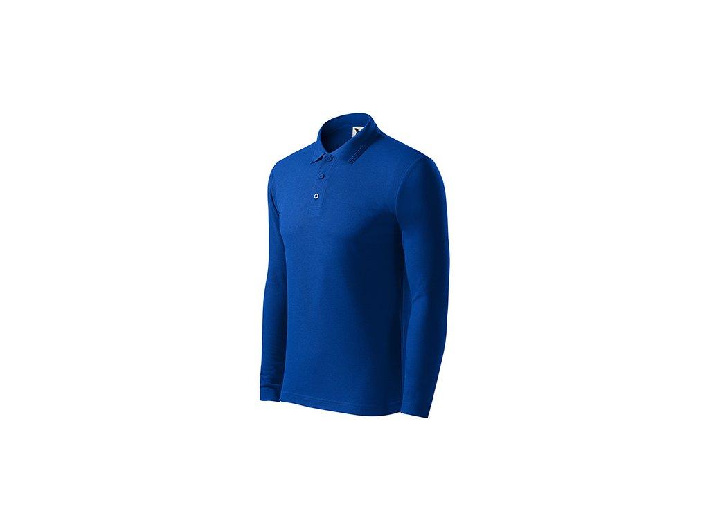 Pique Polo LS polokošile pánská královská modrá