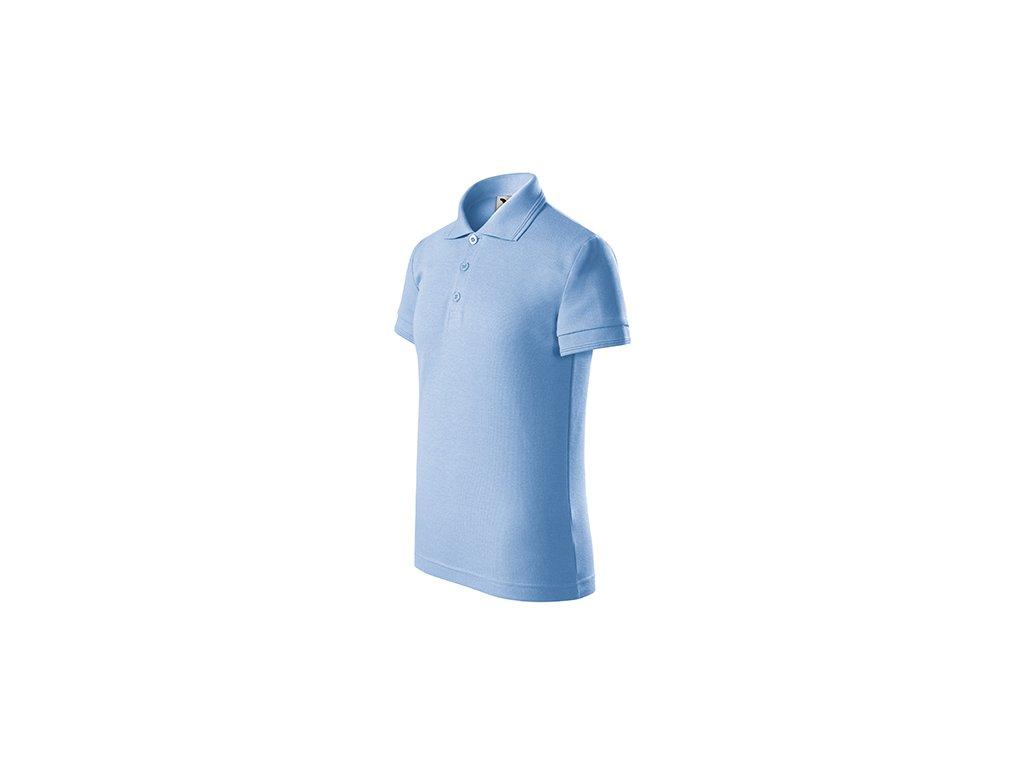 Pique Polo polokošile dětská nebesky modrá