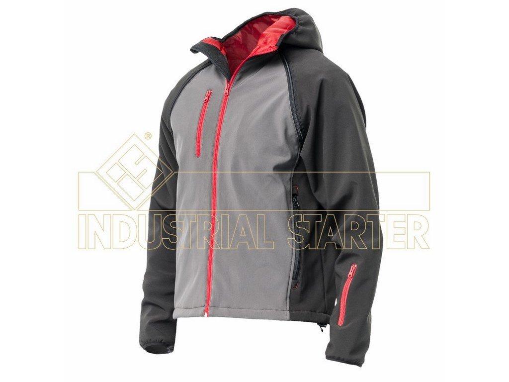 SLY soft. bunda s odepínacími rukávy šedo-černá (Velikost/varianta 4XL)