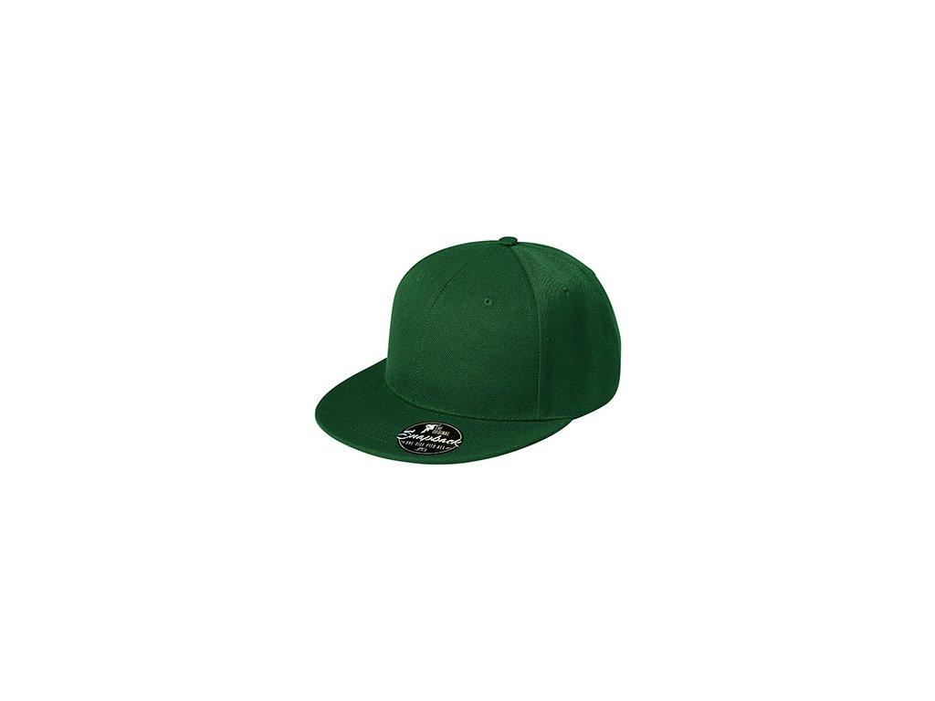 Rap 6P čepice unisex lahvově zelená