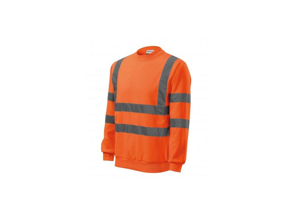 HV Essential mikina unisex reflexní oranžová