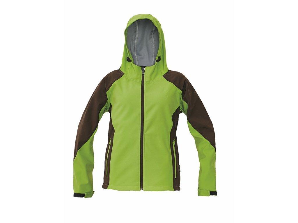 YOWIE dámská softshellová bunda hnědo-zelená (Velikost/varianta 2XL)