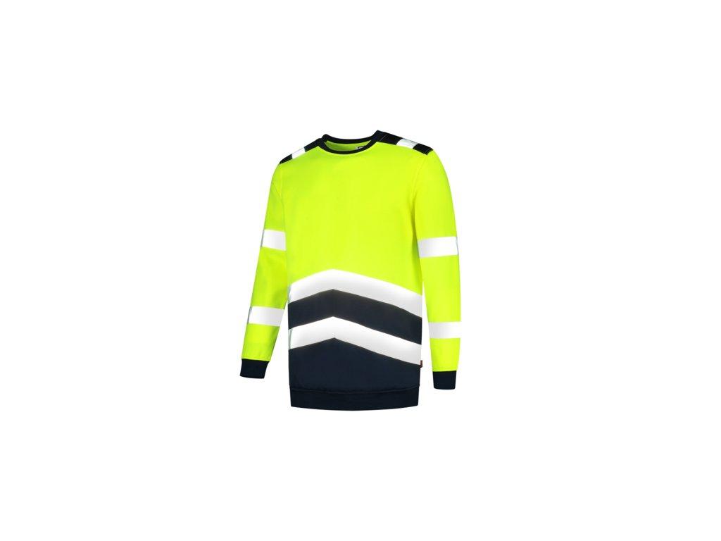 Sweater High Vis Bicolor mikina unisex fluorescenční žlutá