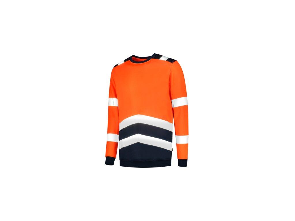 Sweater High Vis Bicolor mikina unisex fluorescenční oranžová