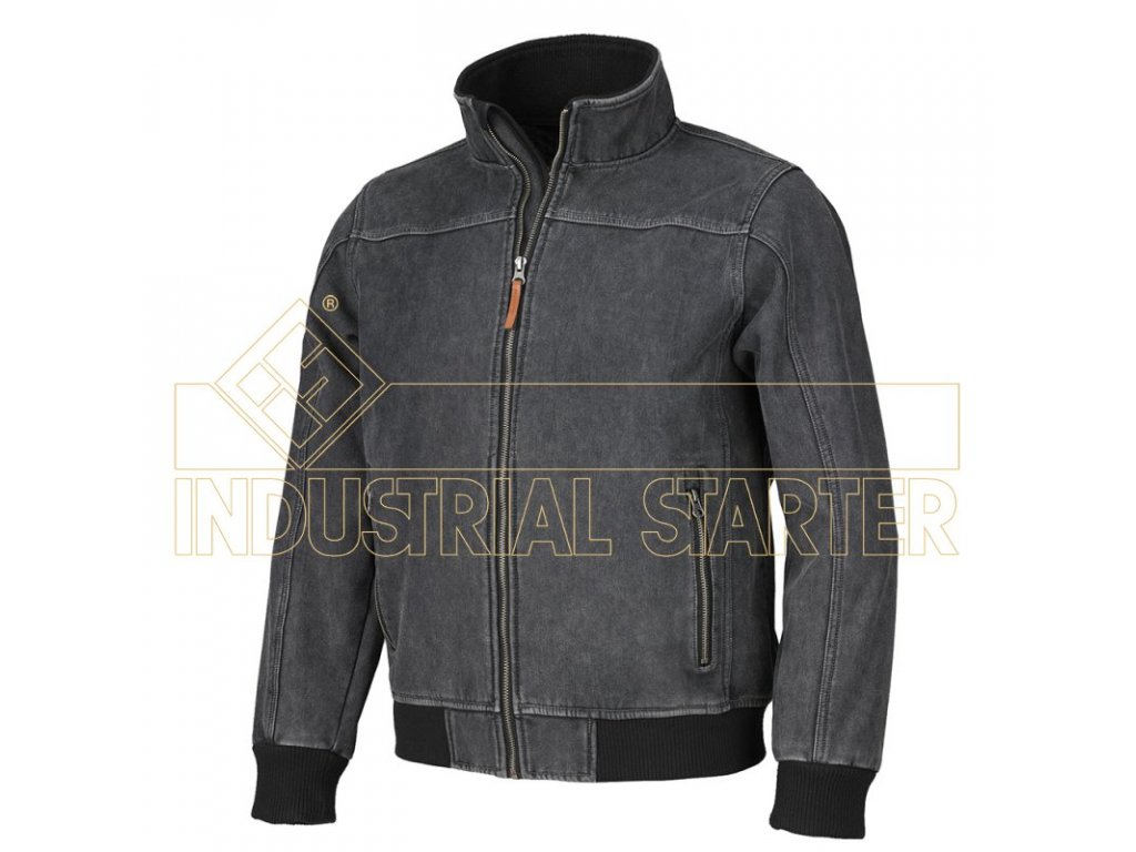 HENRY softshellová bunda černá džínová (Velikost/varianta 3XL)