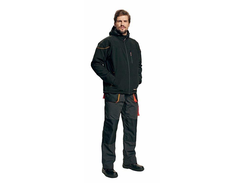 EMERTON softshellová zimní bunda černá (Velikost/varianta 3XL)