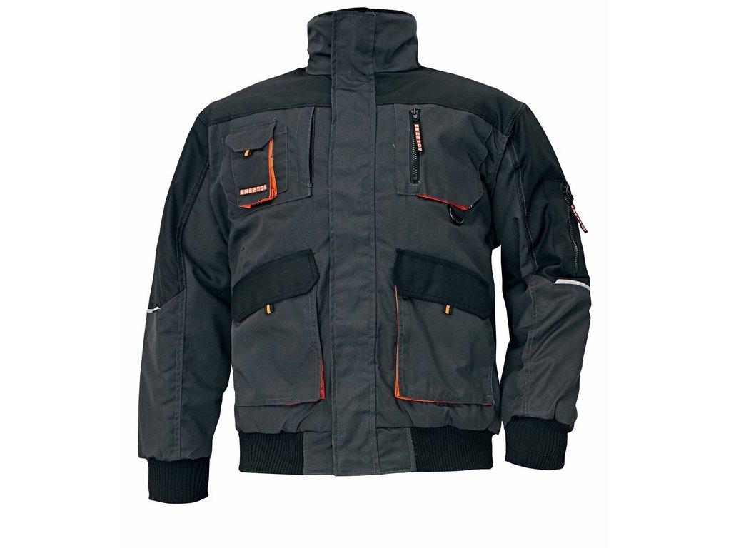 EMERTON PILOT zimní bunda černo-oranžová (Velikost/varianta 3XL)