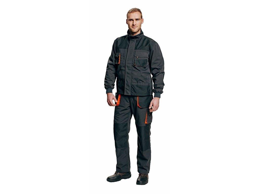 EMERTON WINTER zimní bunda černo-oranžová (Velikost/varianta 62)