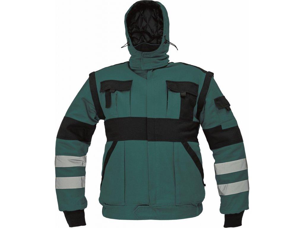 MAX WINTER RFLX zimní montérková bunda zelená (Velikost/varianta 64)