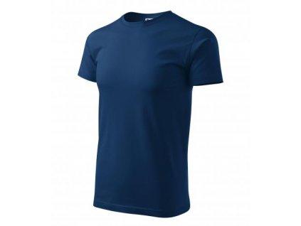 Basic tričko pánské půlnoční modrá