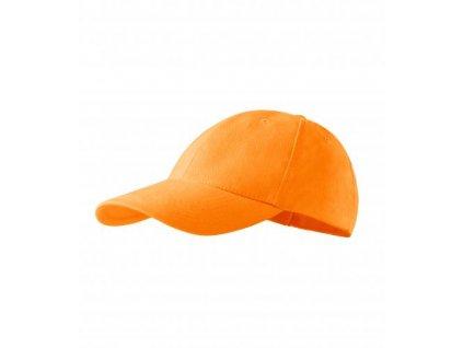 6P čepice unisex tangerine orange