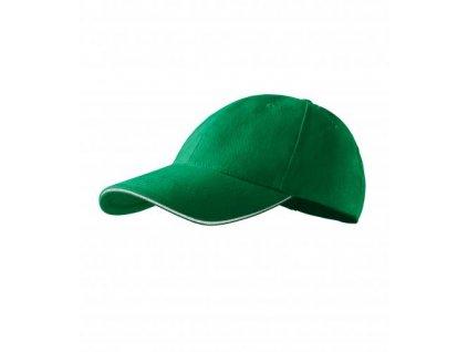 Sandwich 6P čepice unisex středně zelená