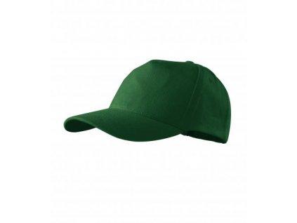 5P čepice unisex lahvově zelená