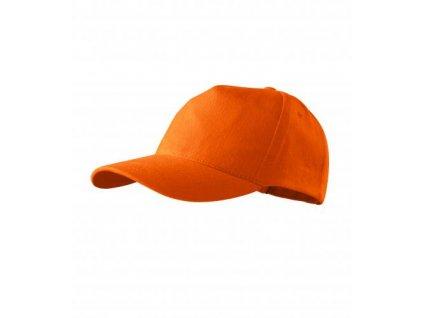 5P čepice unisex oranžová
