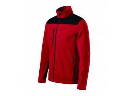 Effect fleece unisex červená