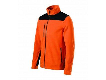 Effect fleece unisex oranžová