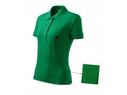 Cotton polokošile dámská středně zelená
