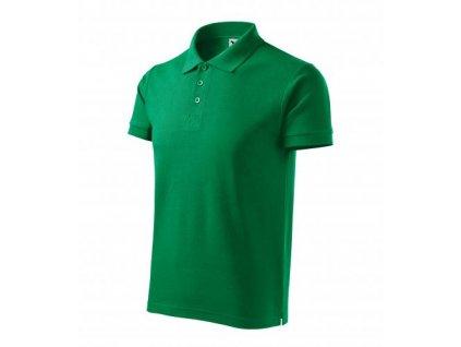 Cotton Heavy polokošile pánská středně zelená