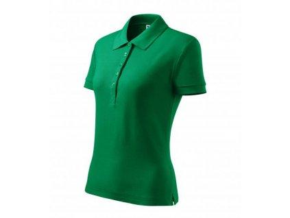 Cotton Heavy polokošile dámská středně zelená
