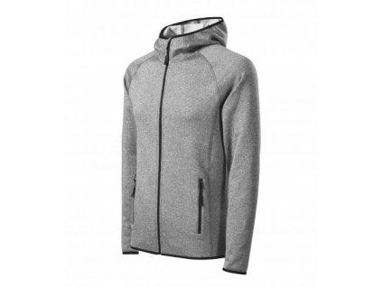 Direct stretch fleece pánský tmavě šedý melír