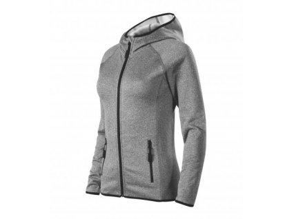 Direct stretch fleece dámský tmavě šedý melír