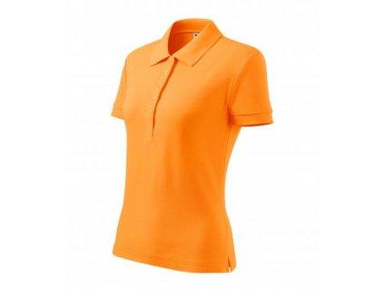 Cotton Heavy polokošile dámská tangerine orange